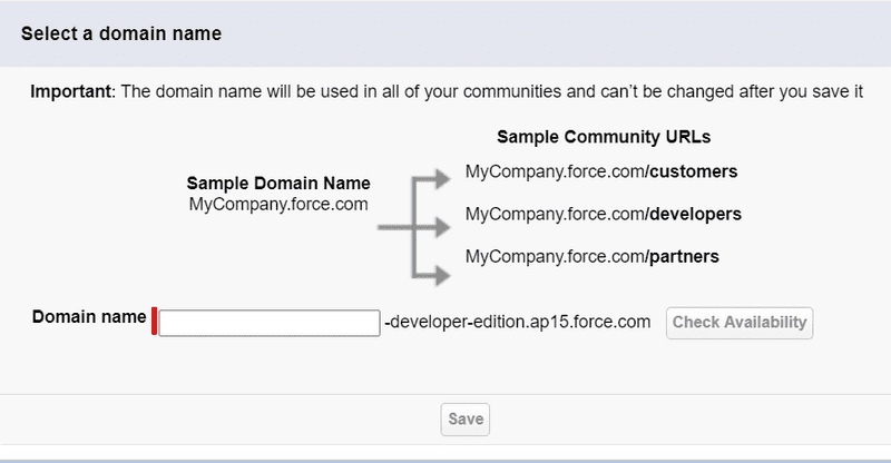 Fig: Step to Enable Domain Name